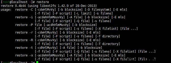 linux restore命令备份查看文件内容还原