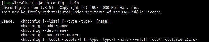 linux chkconfig命令检查设置系统的各种服务