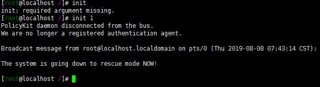linux init命令初始化运行级别处理控制配置文件