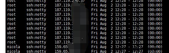 linux lastb命令列出登录系统失败的用户信息
