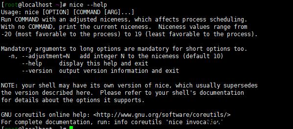 linux nice命令改变指定程序执行优先级设置