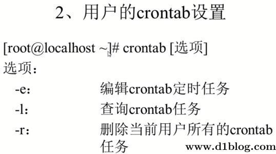 linux crontab命令周期定时执行任务