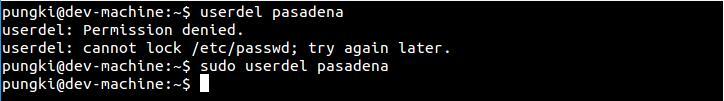 linux userdel命令详解删除用户账号